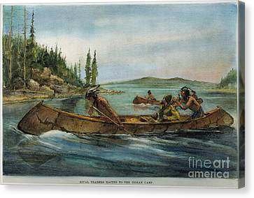 Rival Fur Traders  Canvas Print by Granger