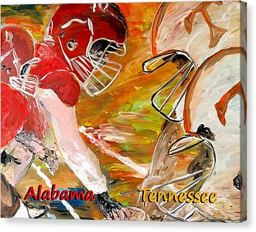 Rivals Face To Face 1 Canvas Print by Mark Moore