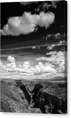 River And Clouds Rio Grande Gorge - Taos New Mexico Canvas Print by Silvio Ligutti