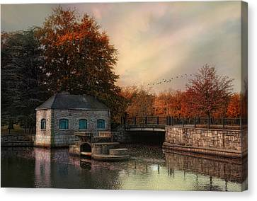 River Antiquity Canvas Print by Robin-Lee Vieira
