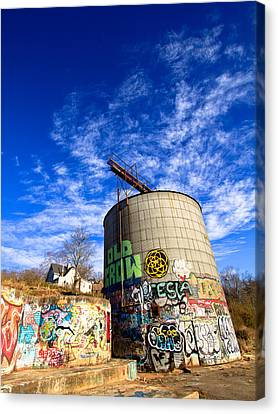River Arts District Old Crow Silo Canvas Print