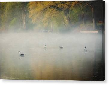 River At Sunrise Canvas Print