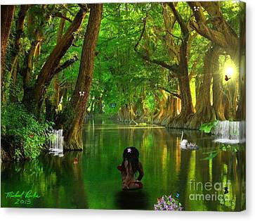 River Beauty Canvas Print by Michael Rucker