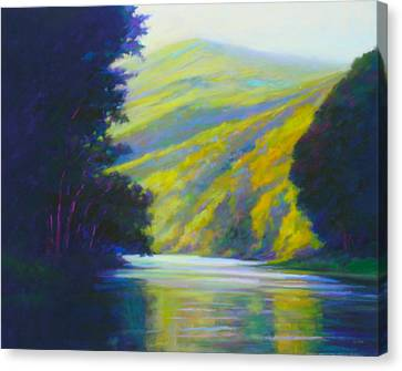 River Bend Canvas Print by Ed Chesnovitch