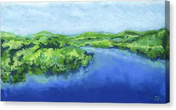 Canvas Print featuring the painting River Bend by Stephen Anderson
