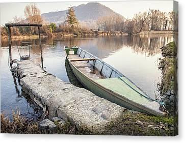 River Boat Canvas Print by Alfio Finocchiaro