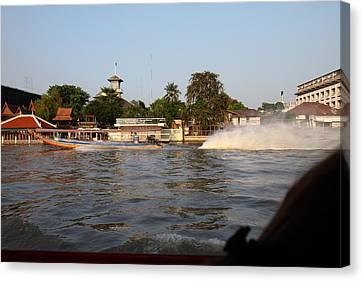 River Boat Taxi - Bangkok Thailand - 011311 Canvas Print by DC Photographer