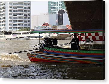 River Boat Taxi - Bangkok Thailand - 01133 Canvas Print