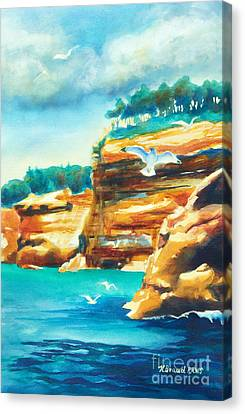 River Cliffs 2 Canvas Print by Kathy Braud