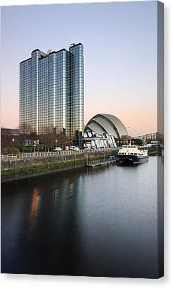 River Clyde Sunset Canvas Print by Grant Glendinning