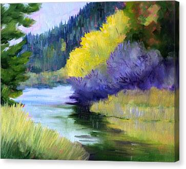 River Color Canvas Print