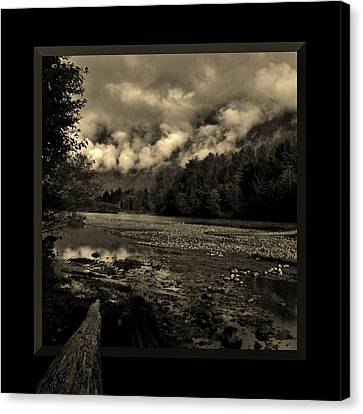 River Crossing Canvas Print by Barbara St Jean
