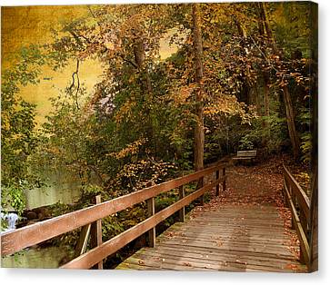 River Crossing Canvas Print by Jessica Jenney