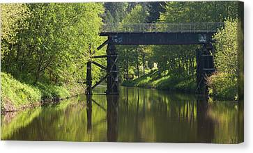 River Crossing Canvas Print by Mike Reid