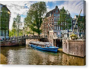 Canvas Print featuring the photograph River Cruise by Brent Durken