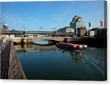 River Cruiser Going Therough The Butt Canvas Print by Panoramic Images