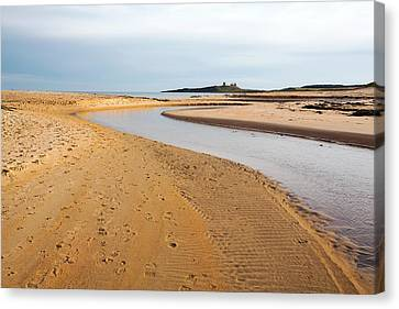 River Entering The North Sea Canvas Print by Ashley Cooper