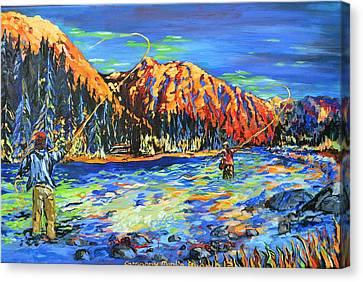 River Fisherman Canvas Print