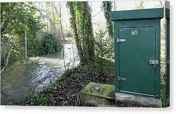 River Flow Metering Station Canvas Print by Sheila Terry