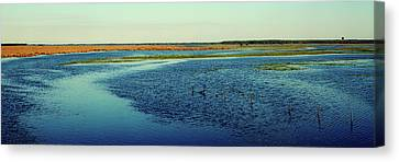 River Flowing Through A Landscape, St Canvas Print by Panoramic Images