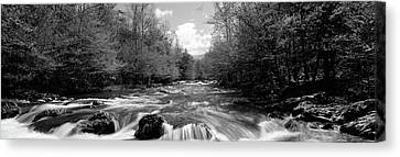 River Flowing Through Rocks Canvas Print by Panoramic Images