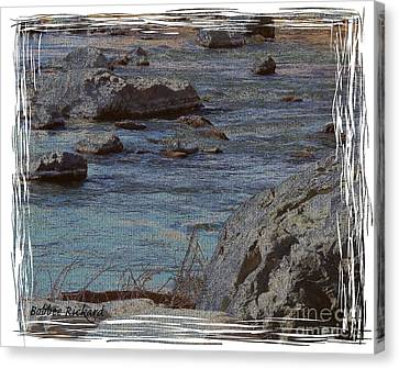 River Flows Canvas Print by Bobbee Rickard