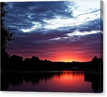 Canvas Print featuring the photograph River Glow by Dave Files