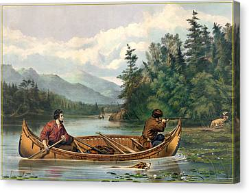 River Hunting Canvas Print by Gary Grayson