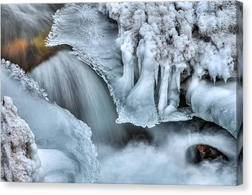 River Ice Canvas Print