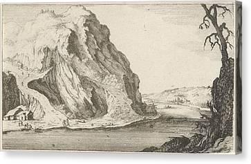 River In The Mountains, Gillis Van Scheyndel Canvas Print by Gillis Van Scheyndel (i) And Frederik De Wit