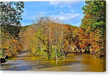 River Island Canvas Print by Frozen in Time Fine Art Photography