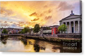 River Lee In Cork Canvas Print by Daniel Heine