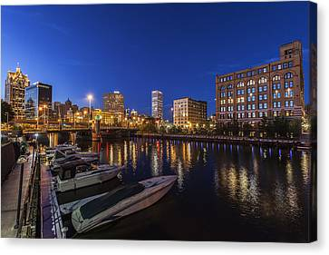 River Nights Canvas Print by CJ Schmit