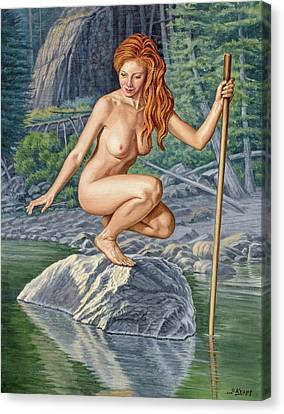 Figures Canvas Print - River Nymph by Paul Krapf