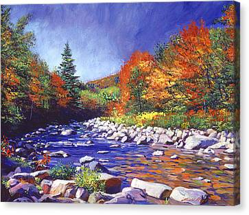 River Of Autumn Colors Canvas Print by David Lloyd Glover