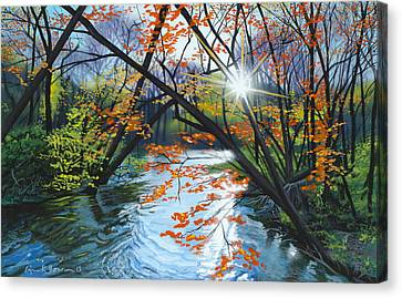 River Of Joy Canvas Print by Lynn Hansen