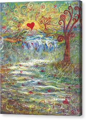 River Of Love Canvas Print