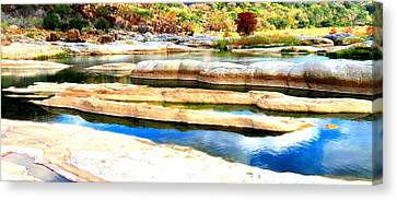 Canvas Print featuring the photograph River Paradise by David  Norman