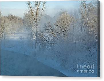 Canvas Print featuring the photograph River Pastorale II by Jessie Parker