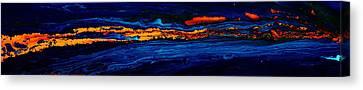 River Path Abstract Art Horizontal Fluid Painting By Kredart Canvas Print by Serg Wiaderny