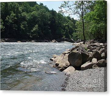 Canvas Print featuring the photograph River Rapids by Deborah DeLaBarre