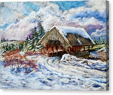 River Rd Covered Bridge Canvas Print by Jane Baribeau
