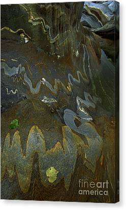 River Rock Intrusions Canvas Print by Art Wolfe