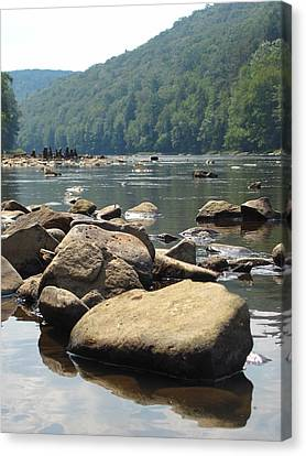 Canvas Print - River Rocks by Kerry Lapcevich