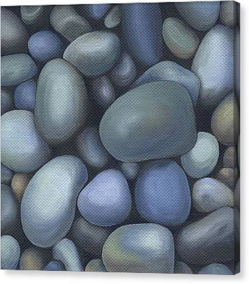 River Rocks Canvas Print by Natasha Denger