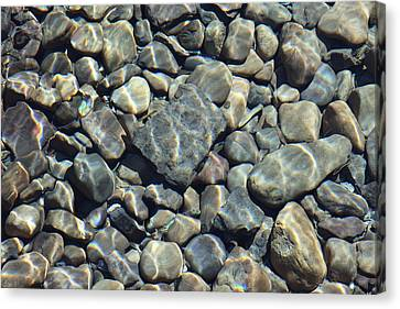 Canvas Print featuring the photograph River Rocks One by Chris Thomas