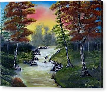 Bob Ross Canvas Print - River Run by Kevin  Brown