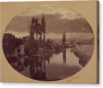 River Scene, France Camille Silvy, French Canvas Print by Litz Collection