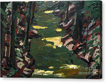 River Shadows After Sisley Canvas Print by Charlie Spear