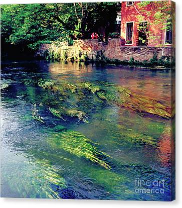 River Sile In Treviso Italy Canvas Print by Heiko Koehrer-Wagner